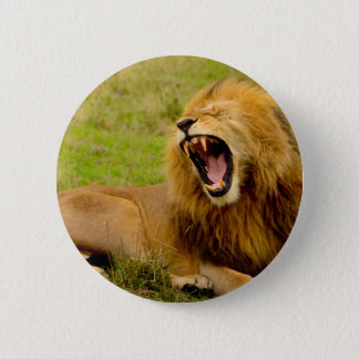 Roaring Lion 6 Cm Round Badge