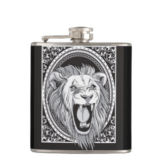 ROARING LION HIP FLASK