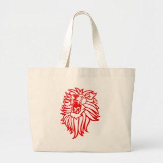 Roaring lion large tote bag