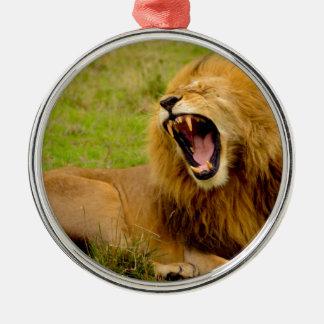 Roaring Lion Metal Ornament