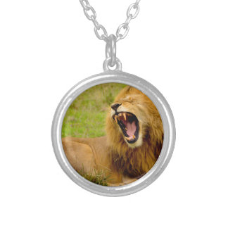 Roaring Lion Silver Plated Necklace
