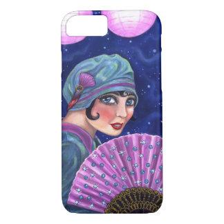 Roaring Twenties Flapper Girl Fan Moon Stars iPhone 7 Case