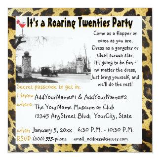 Roaring Twenties Party Flapper Leopard Card