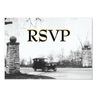 Roaring Twenties RSVP Enclosure with envelope 9 Cm X 13 Cm Invitation Card