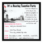 Roaring Twenties Speakeasy Theme Party 13 Cm X 13 Cm Square Invitation Card