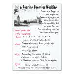 Roaring Twenties Theme Wedding 14 Cm X 19 Cm Invitation Card