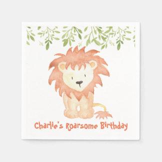 Roarsome Birthday Napkins Disposable Napkin