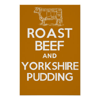 ROAST BEEF and YORKSHIRE PUDDING Poster