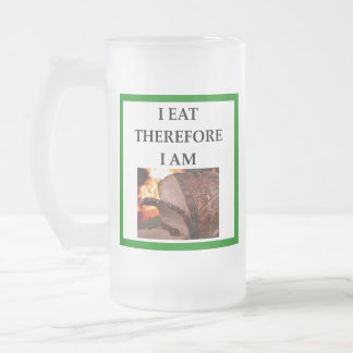 ROAST BEEF FROSTED GLASS BEER MUG