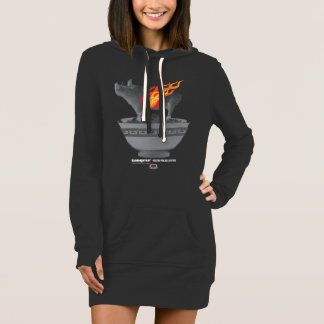 Roast Pork Belly | Black Women Hoodie Dress