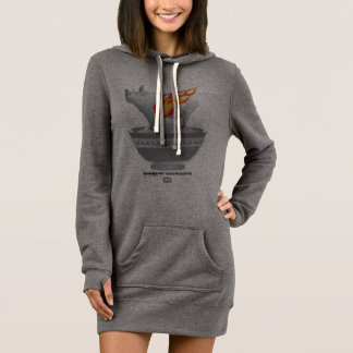 Roast Pork Belly | Charcoal Women Hoodie Dress