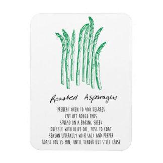 Roasted Asparagus Recipe Magnet