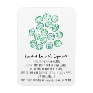 Roasted Brussel Sprouts Recipe Magnet
