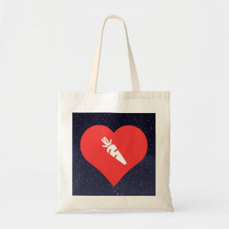 Roasted Carrots Pictogram Budget Tote Bag