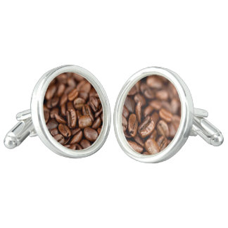 Roasted Coffee Beans Cuff Links