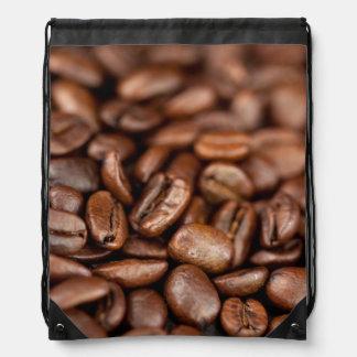Roasted Coffee Beans Drawstring Bag