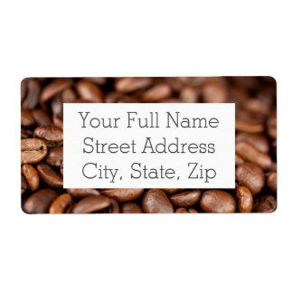 Roasted Coffee Beans Shipping Label