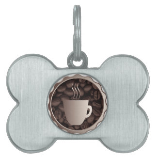 Roasted Coffee Cup Sign Pet ID Tags