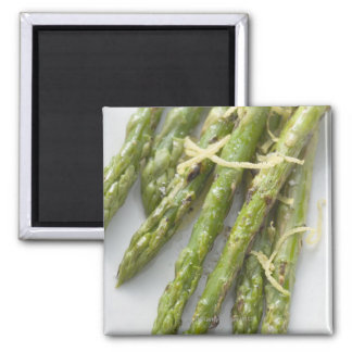 Roasted green asparagus with lemon zest, magnet