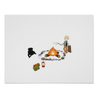 Roasting Marshmallows Poster