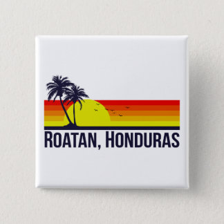 Roatan Honduras 15 Cm Square Badge