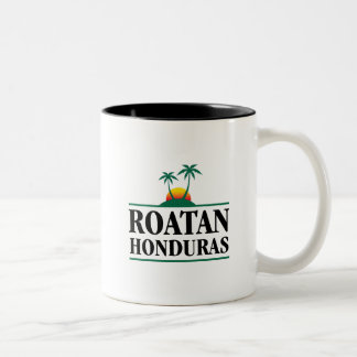 Roatan Honduras Two-Tone Coffee Mug