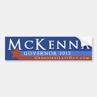 Rob McKenna for Governor 2012 Bumper Sticker