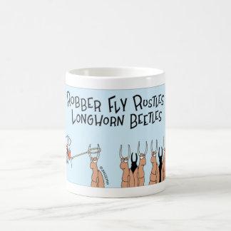 Robber Fly and Longhorn Beetles Coffee Mug