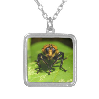 Robber Fly Silver Plated Necklace