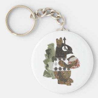 Robber Squirrel Keyring Basic Round Button Key Ring