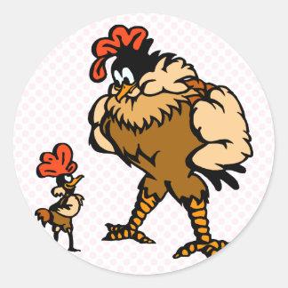Robbey Rooster Round Sticker