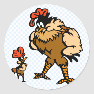 Robbey Rooster Round Stickers
