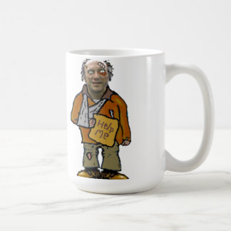 robbie the homeless guy coffee mug