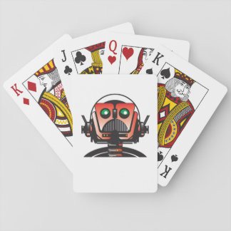 Robbie the Robot playing cards from the book ROOF