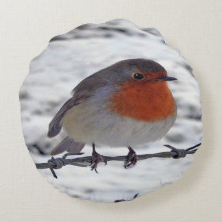 Robbin Redbreast Cushion Round