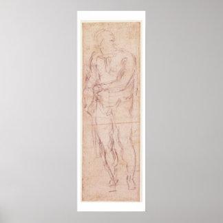 Robbing a Market Girl, 1807 (w/c, bodycolour, penc Poster