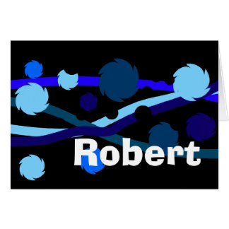 Robert Blue and Black Personalised Name Card