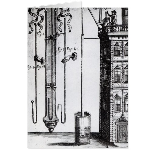 Robert Boyle's development of the water pump Greeting Card