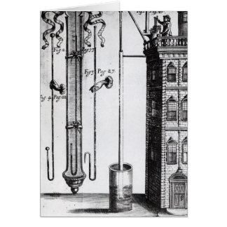 Robert Boyle's development of the water pump Greeting Card
