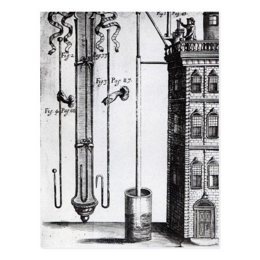 Robert Boyle's development of the water pump Postcards