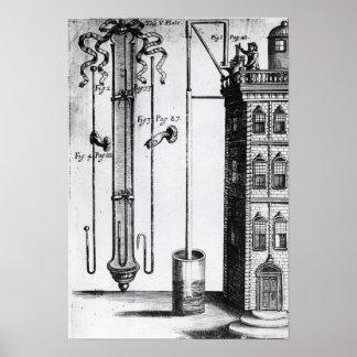 Robert Boyle's development of the water pump Poster