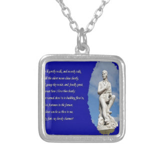 Robert Burns (1759–1796) Poems and Song Silver Plated Necklace