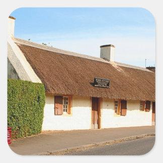 Robert Burns cottage, Alloway, Scotland Square Sticker
