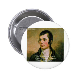 Robert Burns Famous Quote 6 Cm Round Badge