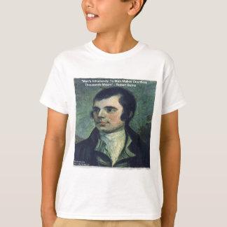 """Robert Burns """"Man's Inhumanity"""" Quote Gifts T-Shirt"""