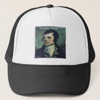 """Robert Burns """"Man's Inhumanity"""" Quote Gifts Trucker Hat"""