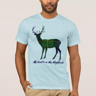 Robert Burns Quote Clan GordonTartan Stag T-Shirt