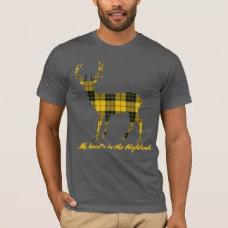 Robert Burns Quote MacLeod  of LewisTartan Stag T-Shirt