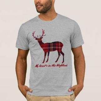 Robert Burns Quote Royal Stewart Tartan Stag T-Shirt