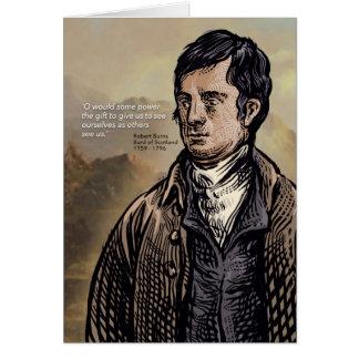 Robert Burns - Scottish Bard Card